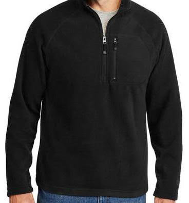Unisex Starter Fleece - Black 1/4 Zip Up