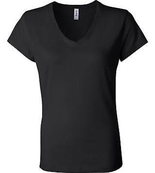 Bella Ladies Short Sleeve V-Neck