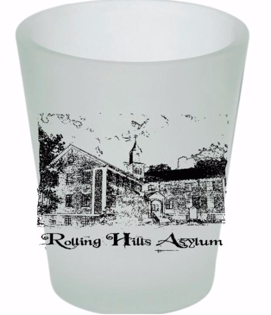 Rolling Hills Asylum Frosted Shot Glass