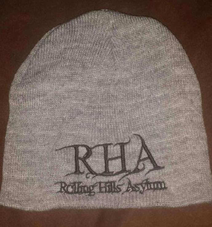 Beanie (Grey with Dark Black Embroidery)