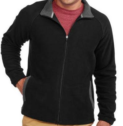 Unisex Starter Fleece - Two Tone Black with Grey Full Zip Up