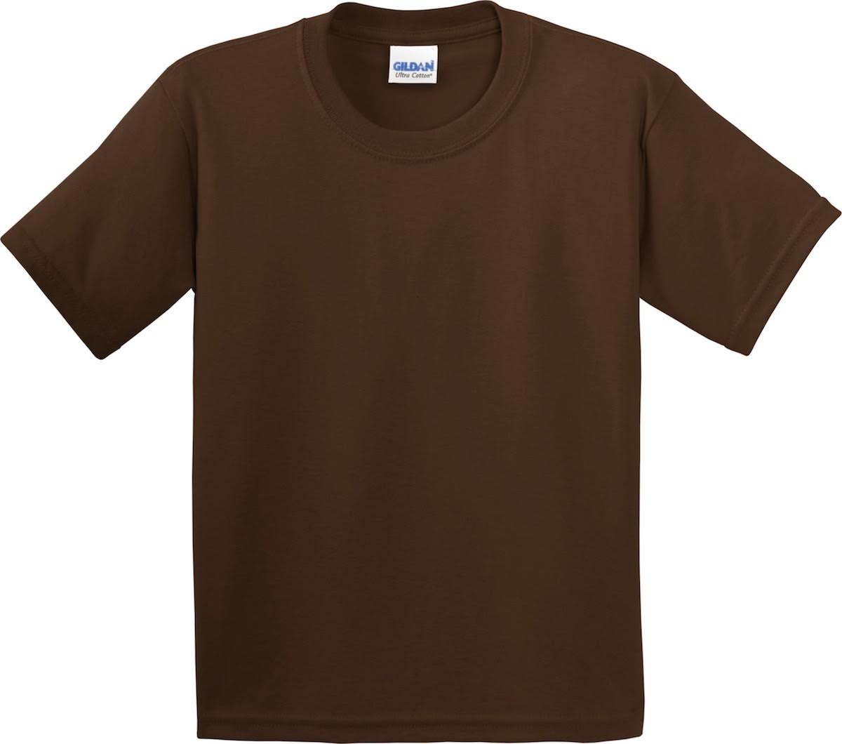 Brown Gilden Brand Men Short Sleeve T-Shirt